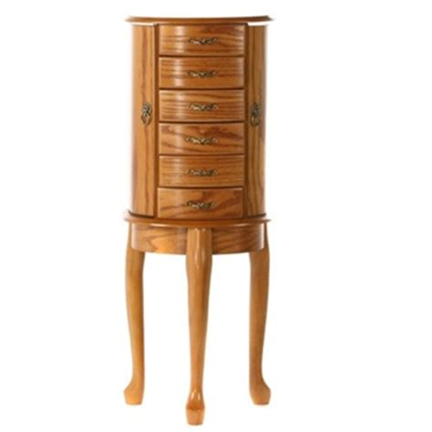 standing armoire jewelry box jewelry armoire floor standing queen anne design