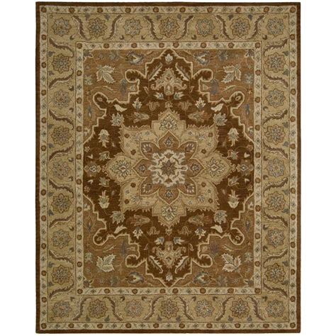 Overstock Area Rug Nourison Overstock India House Chocolate 8 Ft X 10 Ft 6 In Area Rug 289124 The Home Depot
