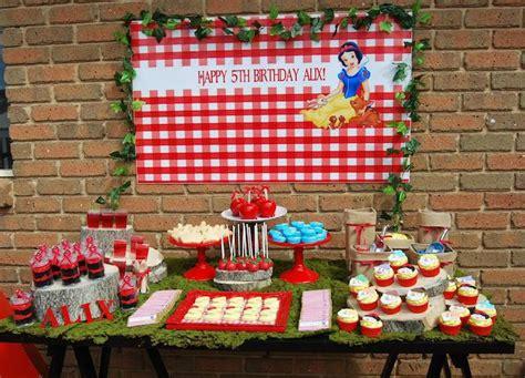 blue themed games kara s party ideas snow white themed birthday party via
