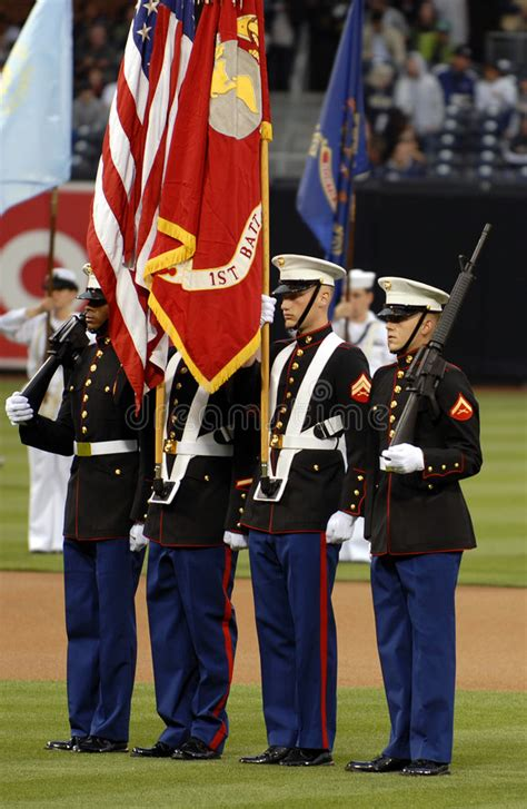 marine color guard marine corps color guard editorial photo image of