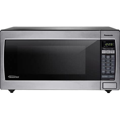 Panasonic Microwave Ovens Countertop by Panasonic Nn Sn752s Stainless 1250w 1 6 Cu Ft Countertop