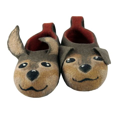 dog house slippers felted dogs slippers made to order handmade house shoes dogs felt slippers dog
