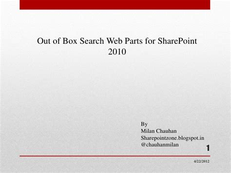 Search Sharepoint 2010 Search Webparts In Sharepoint 2010