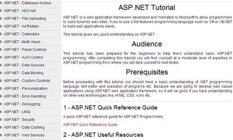 wordpress tutorial on tutorialspoint 5 free websites to learn net online