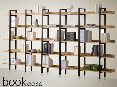 special iron wood bookcase shelves shelving combination