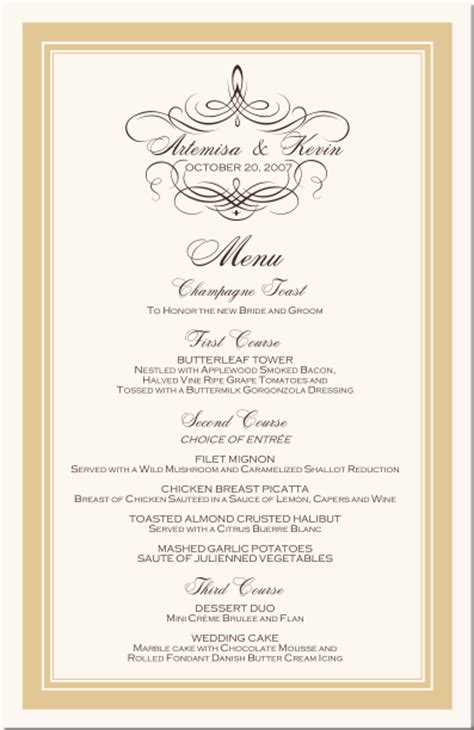 fancy menu borders templates