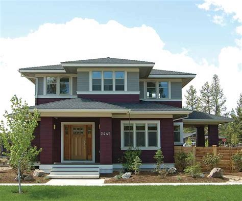 style house plans prairie style house plans craftsman home plans