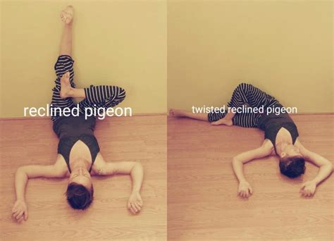 reclined pigeon pose great yoga sequence for beginners to settle into fall