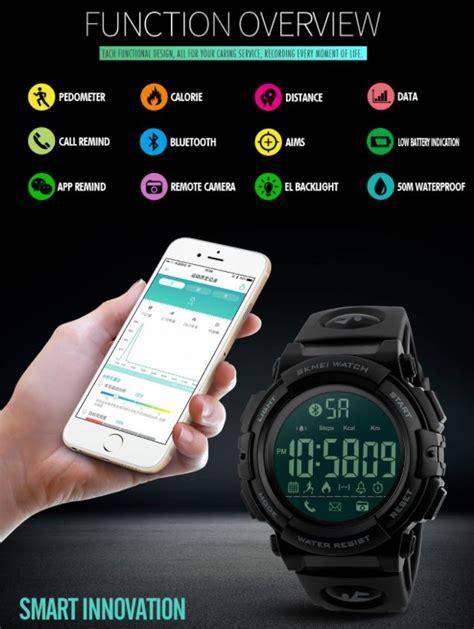 Hp Jam Tangan Sony Smartwatch skmei jam tangan olahraga smartwatch bluetooth 1303 black blue jakartanotebook