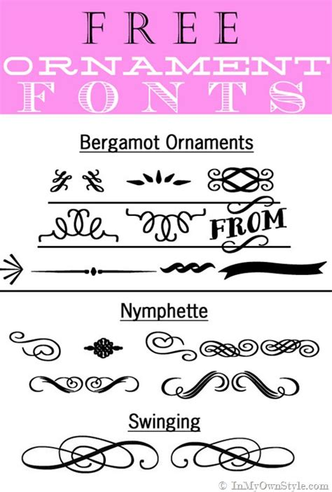 typography ornaments ornamental lines font images