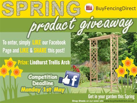 Direct Buy Giveaway - lindhurst trellis arch spring giveway buy fencing direct