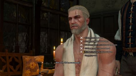 beard and hairstyles witcher 3 the witcher 3 wild hunt beard and hairstyle set