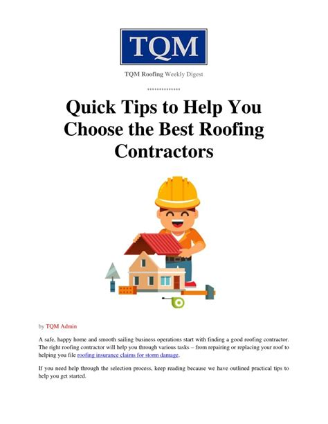 15 tips to help you choose the right visual content ppt quick tips to help you choose the best roofing