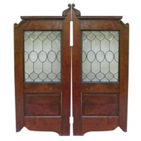 Leaded Glass And Mahogany Saloon Doors Glass Saloon Doors