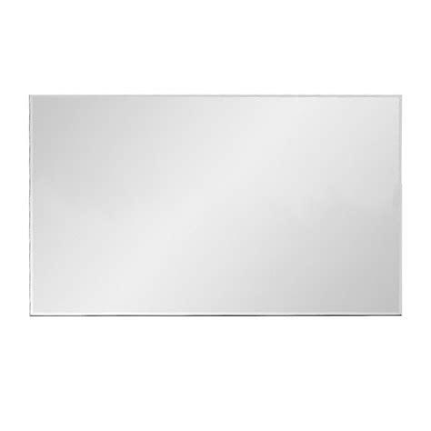specchio senza cornice enki 600 x 400 rettangolare bagno suite muro vetro senza