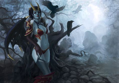 wallpaper android dota 2 6077 dota 2 queen of pain background hd wallpaper