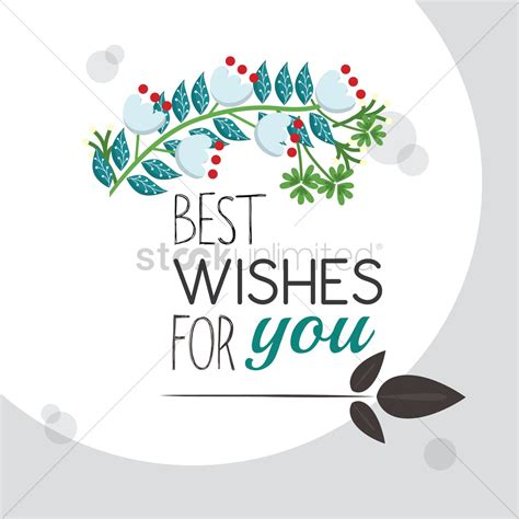 best wishes for you greeting vector image 1811294