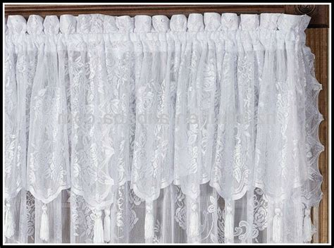 lace curtains with attached valance lace curtain panels with attached valance curtains
