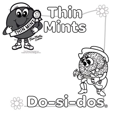 printable coloring pages scout cookies scout coloring pages coloring home