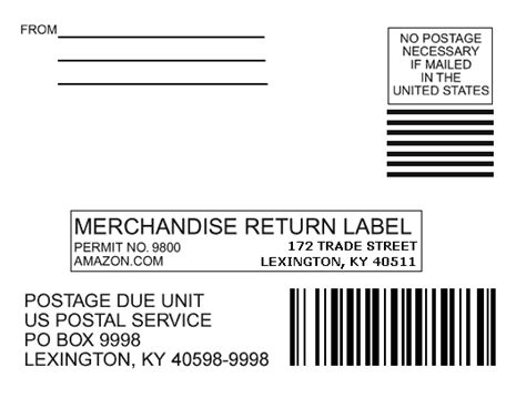 printable return label amazon return mailing label