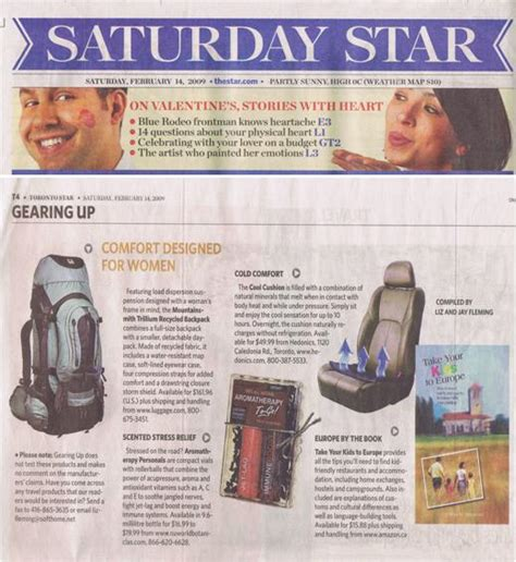 Toronto Star Travel Section Nuworld Botanicals