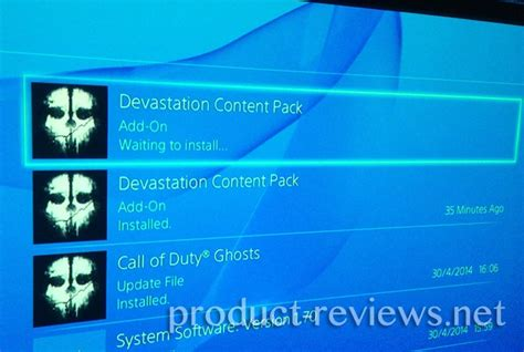 ps4 themes waiting to install ps4 waiting to install cod dlc issue product reviews net