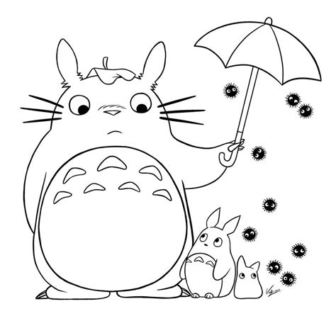 Coloring Totoro Coloring Pages Coloring Sheets Totoro Coloring Pages