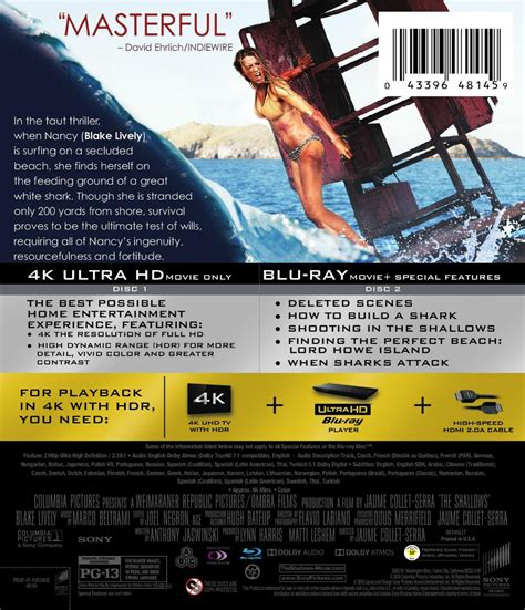 Baby 4k Bluray the shallows 4k dvd release details cover daily dead