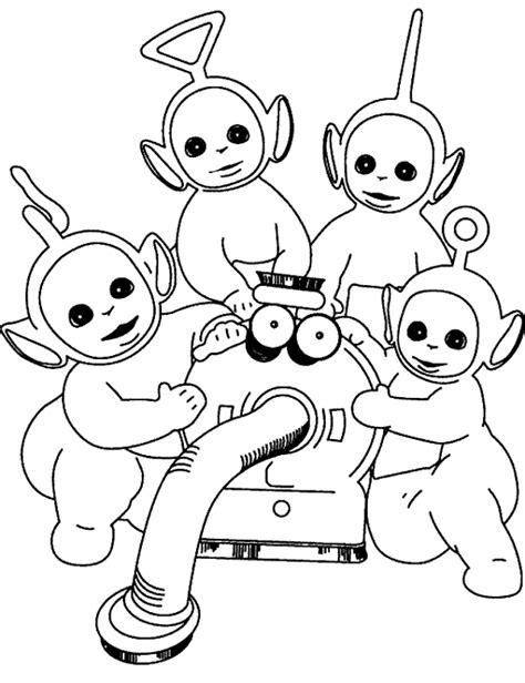 sketsa gambar teletubbies untuk belajar mewarnai anak