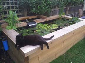 Wood Bench Kit Raised Timber Pond And Waterfall Build Page 2 Pond