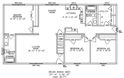 Basic Ranch Floor Plans by Simple One Floor House Plans Home Plans Home
