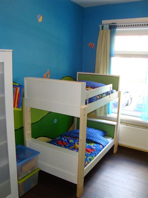 Kid Bunk Beds Ikea Bedroom Exquisite Blue Boy Bedroom Decoration Using Kid Wooden Ikea White Bunk Bed Including