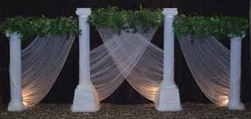 wedding arches and columns wedding backdrops backgrounds decorations columns 4 everclisbys columns