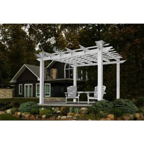 new arbors mirage pergola va42033 the home depot