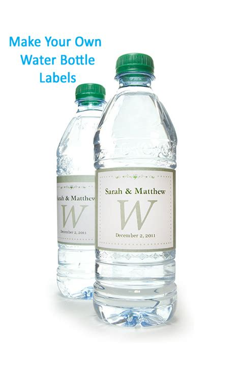 Mineral Water Label Template by Water Bottle Labels Onlinelabels