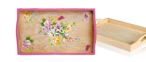 How Do You Do Decoupage - decoupage a wooden tray