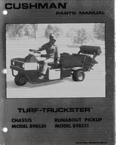 1982 1984 parts manual for gas cushman turf truckster