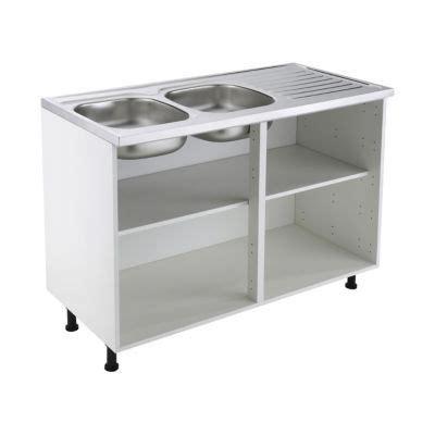 caisson sous evier cuisine meuble sous 233 vier 120 cm blanc castorama