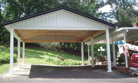 Two Car Garage With Carport by Alluring Carports Design With Two Car Garage Space And