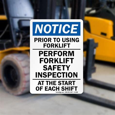 conduct  pre start forklift inspection mysafetysign blog