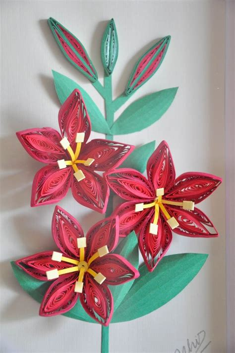 Craft Work Paper Flowers - 17 best images about quilling flowers lilies on