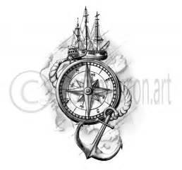 25 best anchor compass tattoo ideas on pinterest