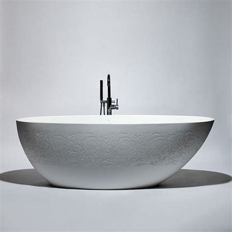 freestanding oval bathtub the delicate blustone oval freestanding bathtub