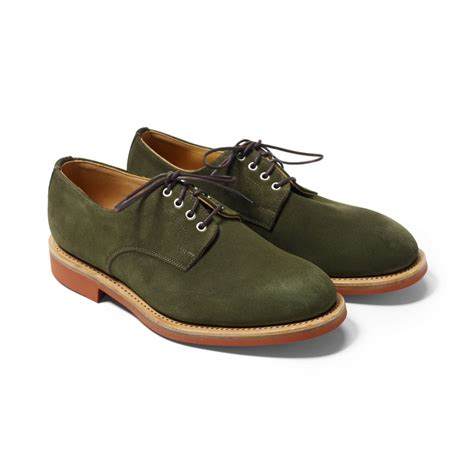 club monaco mcnairy derby shoe in green for lyst
