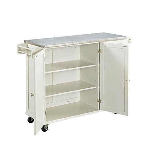 home styles liberty kitchen island with stainless steel home styles 4512 95 liberty kitchen cart with stainless