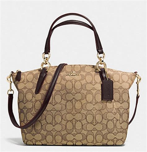 Coach Kelsey Small Signature Khaki luxurycometrue coach small kelsey satchel in signature