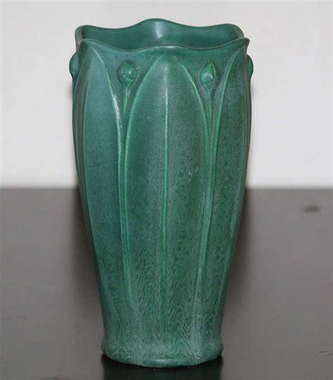 Weller Vase by Weller Pottery Matte Green Vase California Historical Design