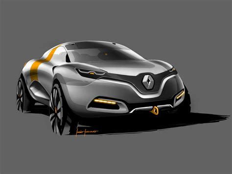 renault captur concept renault captur concept design sketch car body design
