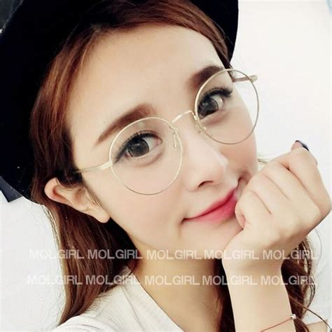 Big Lennon Clear Frame Kacamata 2015 korean vintage metal glasses frame 2944