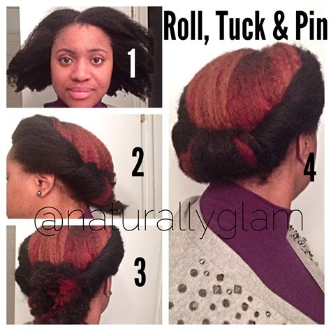 tuck in hairstyles style pictorial the roll tuck pin